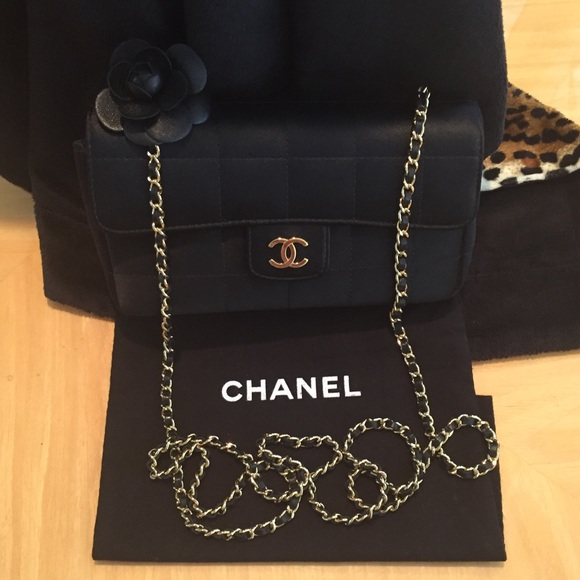 ed64ba32cacd CHANEL Bags | Authentic Mini Satin Camellia Shoulder Bag | Poshmark